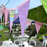Candy Bunting at a Garden Party