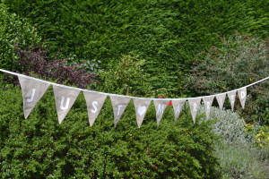 "Wedding bunting: ""Just Married"""