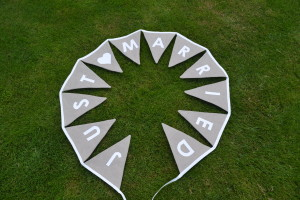 """Wedding bunting: """"Just Married"""""""